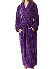 Ashtray - Couple Models Ladies Winter Long Thick Yukata Dressing Gown Bathrobe Home Clothes Shawl Long Sleeved Robe Coat,Size:XL,Colour:Blue