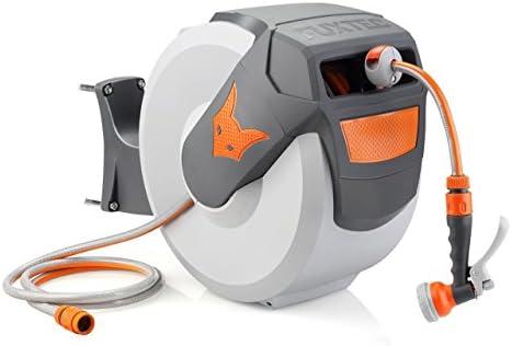 Fuxtec Wasserschlauch Aufroller FX-WSA30 mit 30 m und 1/2 Zoll Anschluss automatischer Schlauchaufroller Schlauchtrommel Wasserschlauchtrommel für Wand Montage