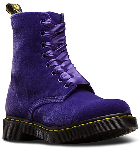 Dr. Martens 1460 Pascal Dusty Violet Purple Ze You Velvet Ankle Boots Purple