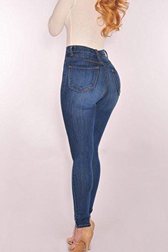 Jeans Les Haute Taille Pantalons YACUN Des Pantalons Femmes blue Chevilles Les IZqzccwW5g