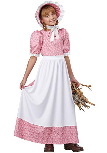 Early American Girl - Child Costume Pink/White -