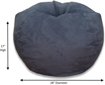 Bean Bag Chair Large Microsuede Bean Bag Chair Washed Blue, Large