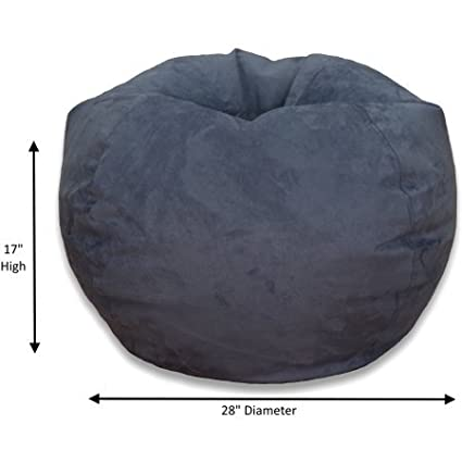 Bean Bag Chair Large Microsuede Bean Bag Chair (Washed Blue, Large)