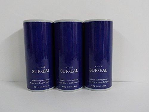 (Avon Surreal Shimmering Body Powder 1.4 Oz. (Lot of 3))