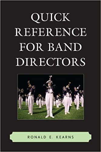 Book Quick Reference for Band Directors by Ronald E. Kearns (2011-09-22)