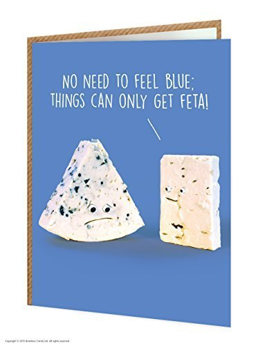 Brainbox Candy Funny Humorous 'Things Can Only Get Feta!' Birthday Greetings Card (Feta Style)