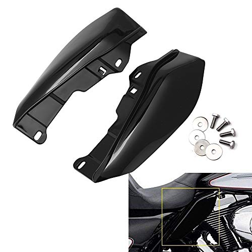 AQIMY Black Mid-Frame Air Deflector Compatible for Harley Davidson Touring Street Electra Glide Road King 2009-2016