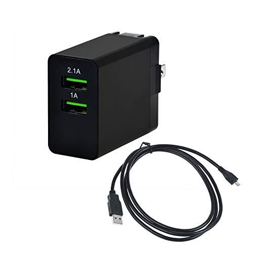 """Accessory USA Two USB Ports Socket Jack Output AC Adapter For Amazon Fire Hd 7"""" HDX 8.9"""" 9.7"""" LTE 4G HDX, 4g Lte, Touch, Graphite Keyboard, Dx, Kindle Paperwhite 6"""" 3g Tablet Pc Micro-usb Wall Charger"""