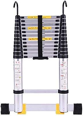 LADDER Escaleras telescópicas, Escalera telescópica de aluminio multipropósito de 12.5 pies, Escalera de extensión portátil para trabajo pesado para carga de ingeniería, capacidad de 330 lb: Amazon.es: Bricolaje y herramientas