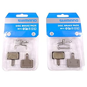 SHIMANO 2 Pairs Disc Brake Pads & Spring B01S (Resin)