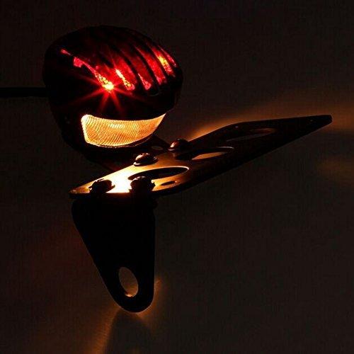 1 confezione fanale posteriore di colore rosso per moto TUINCYN con portatarga nero luce di stop indicatore lampeggiante da 12/V robusto