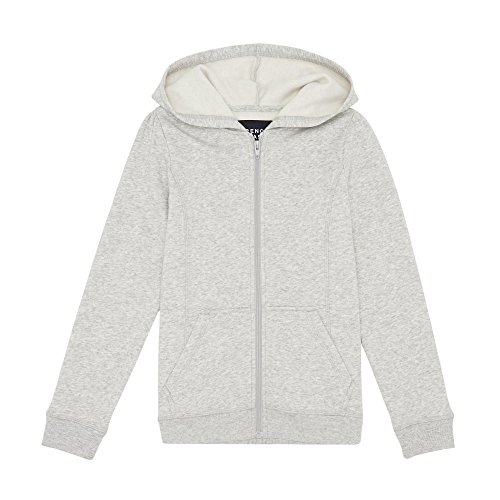 French Toast Girls' Little Fleece Hoodie, Heather Gray, 5 by French Toast (Image #1)