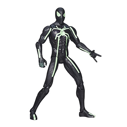[Marvel Infinite Series Big-Time Spider-Man 3.75 Inch Figure] (Black Suit Spiderman Costume)