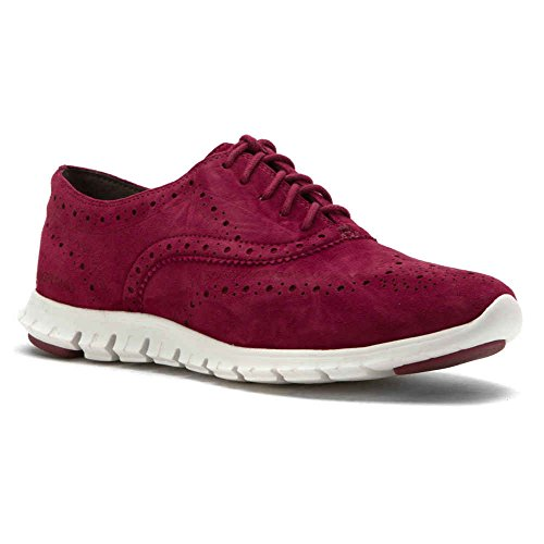Cole Haan Women's Zerogrand Wing Ox Oxford, Cabernet Suede Closed Hole/Optic White, 6.5 B US W05373
