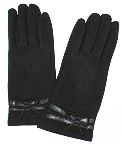 Ted and Jack - Lana Elegant Solid Glove with Cute Bow Accent in (Bow Accent Gloves)