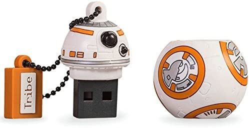 Llave USB 8 GB BB8 - Memoria Flash Drive 2.0 Original Star Wars, Tribe FD030404