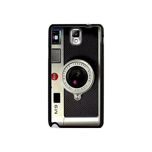 Galaxy Note 3 Case, TPU Hard Back Cover with Vintage Camera Pattern for Samsung Galaxy Note 3/n9000-Black