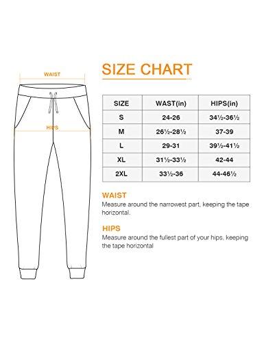 NAVISKIN Womens Yoga Running Pants Outdoor Lounge Sweat Pants Side Pockets
