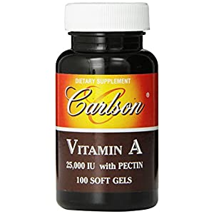 Carlson Labs Vitamin A with Pectin, 25000 IU, 100 Softgels