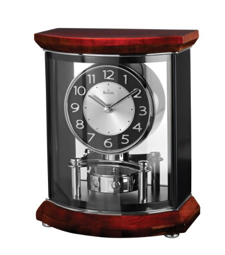 Piano Wood Desk Clock (Bulova B1718 Gentry High Gloss Clock, Piano Finish)
