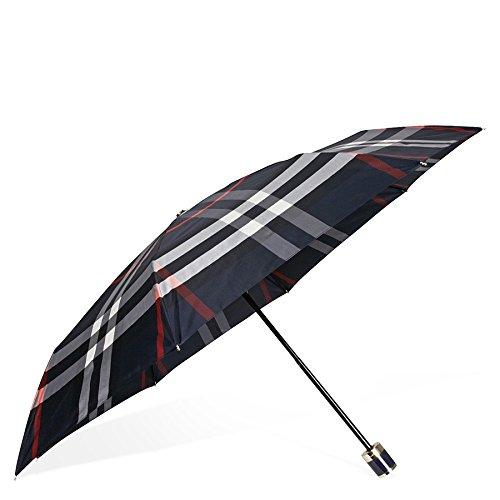 burberry-check-folding-umbrella-navy