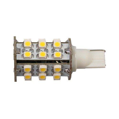 Hqrp 4 Pack T10 Wedge Base 30 Leds Smd 3528 Led Bulbs Warm White For 194 168 Cruiser Rv Fun