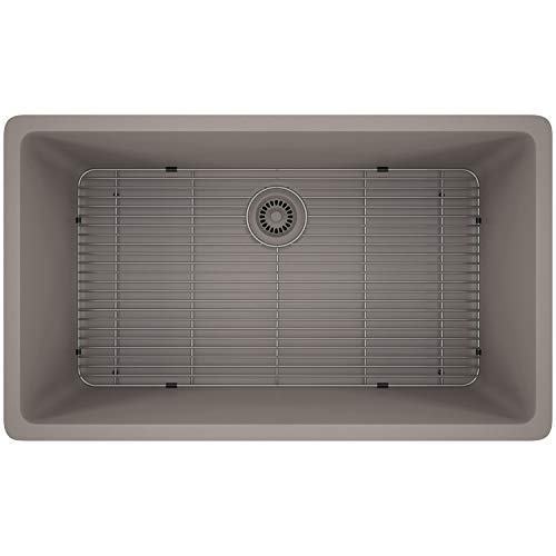 Lexicon Platinum Quartz Composite – Large Single Bowl – LP-1000 Concrete