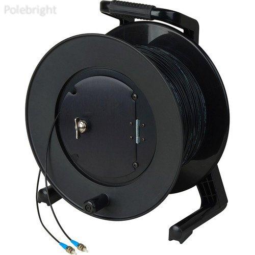 HF-TR1SM-ST-1000 Simplex Singlemode ST Fiber Optic Tactical Cable on JackReel-F4 Reel (1000') - Polebright update