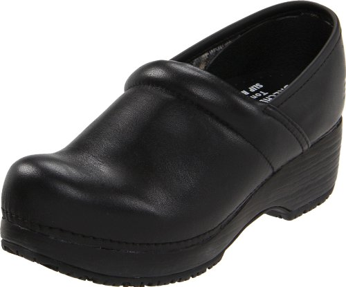 Skechers for Work Women's Clog, Black, 7 M - 1/2 Inch 2 Fur Heel