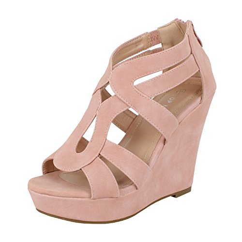 Top Moda Lindy-3 Platform Boots (6.5 M, Blush Pu)
