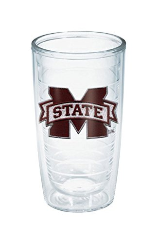 Tervis 1033326 Mississippi State University Emblem Individual Tumbler, 16 oz, Clear