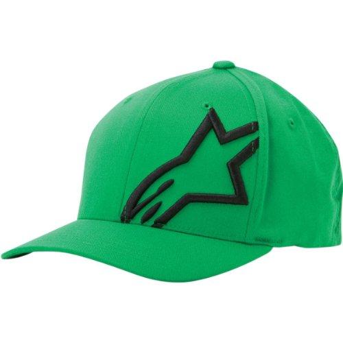 Alpinestars Men's Corp Shift 2 Flexfit Hat, Green/Black, Small/Medium