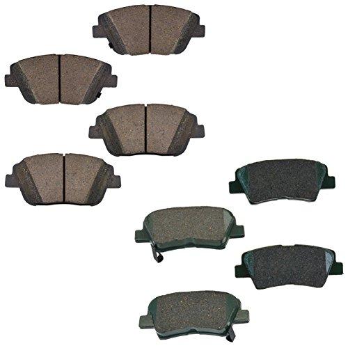 Brake Pad Ceramic Front & Rear Kit Set for Hyundai Sonata Kia (Hyundai Sonata Front Brake)