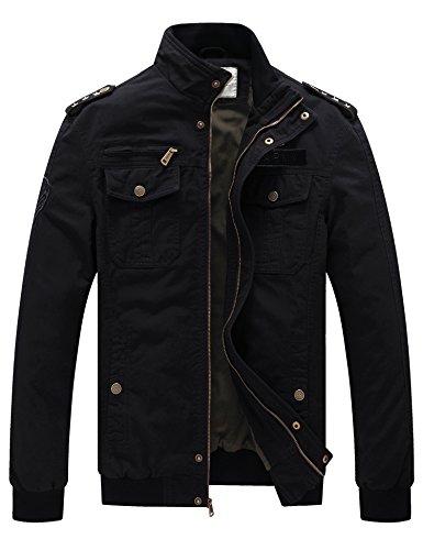 Black Casual Mens Jacket - 4