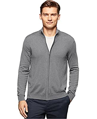 Calvin Klein Men's Full-Zip Cardigan Sweater