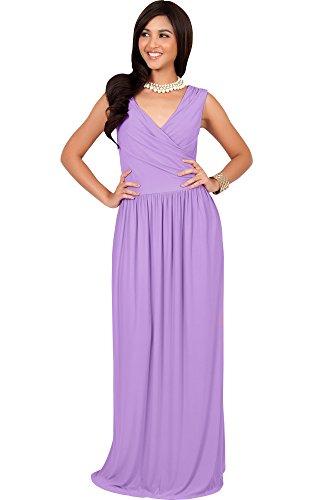 4c7ef4c838a8 KOH KOH Womens Long Sleeveless Sexy Summer Semi Formal Bridesmaid ...