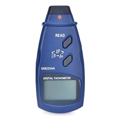 デジタルメーター デジタル レーザータコメーター LCD デジタル回転計 精度0.1RPM 電子写真タコメーター 2.5〜99999 RPM データメモリ 速度計 SM2234A SM2235A 高精度テスター (Style : SM2234A)