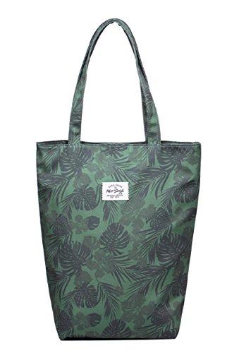 HotStyle BASIC TOTE Bolso de mano bandolera de moda | 41x32,5x11,5 cm S020l, Tropical, Oliver
