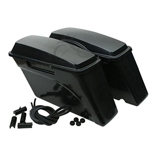 - XFMT Unpainted ABS Hard Saddle Bag Saddlebag Compatible with Harley Softail Dyna Sportster Models