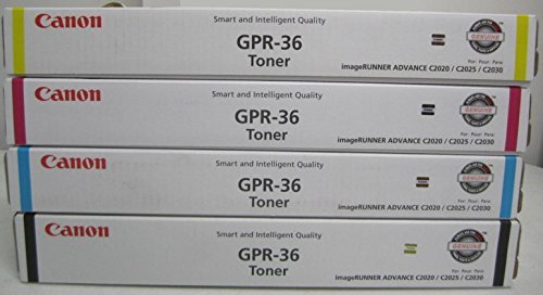 WCI© Best Value Pack® of All (4) Genuine Canon GPR-36 Toner Cartridges + FREE $25 Restaurant Gift Certificate (1 each of BK/CY/MG/YE) for: Canon ImageRunner Advance C2020/C2030/C2225/C2230 Series.