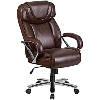 Flash Furniture Hercules Series lb Brown Leather Executive Swivel fice Chair with Extra Wide Seat