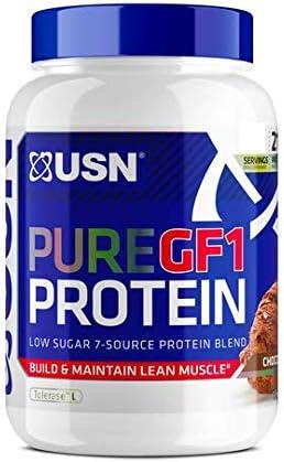 USN Pure Protein GF-1 2000 g Chocolate - Batido de proteína para crecimiento y reparación