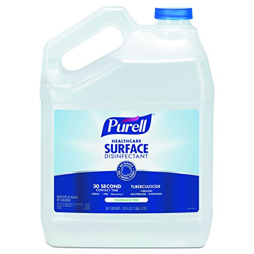 PURELL Healthcare Surface Disinfectant Spray, Fragrance Free, 1 Gallon Disinfectant Pour Bottle Refill (Case of 4) - 4340-04