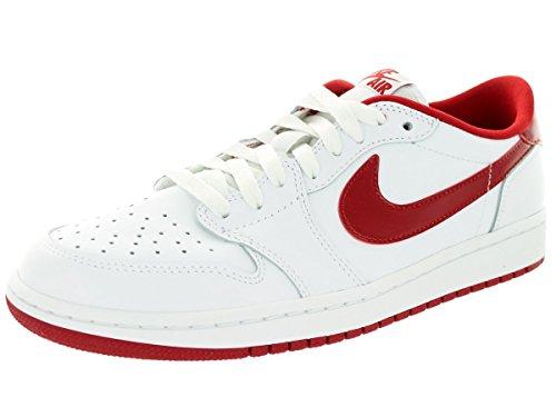 Nike Air Jordan 1 Retro Low Og, Zapatillas de Deporte Exterior para Hombre White/Varsity Red/White