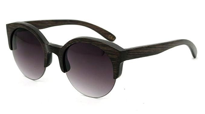 aab44e51643 Bamboo Sunglasses Skateboard Polarized Lenses Retro Wayfarer Handmade  Womens Mens Sunglasses - Black