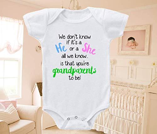Pregnancy Reveal Onesie Grandparents To be