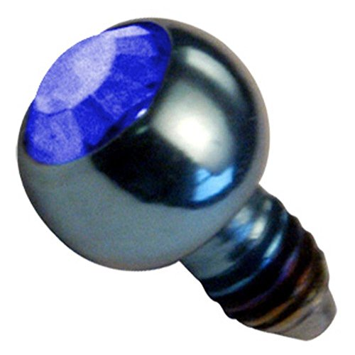 Titanium Internally Threaded Jewelled Balls - Dark Blue ()