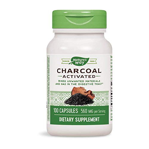 (Nature's Way Charcoal Activated, 100 Capsules, 560 mg per serving (Packaging May Vary))