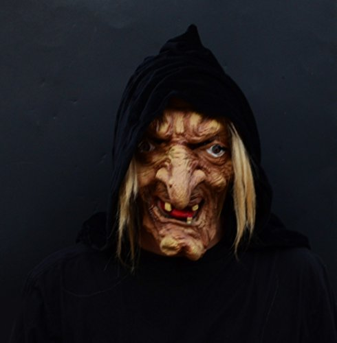 Acid Tactical Scary Creepy Halloween Latex Witch Mask - Evil Snow White Witch]()