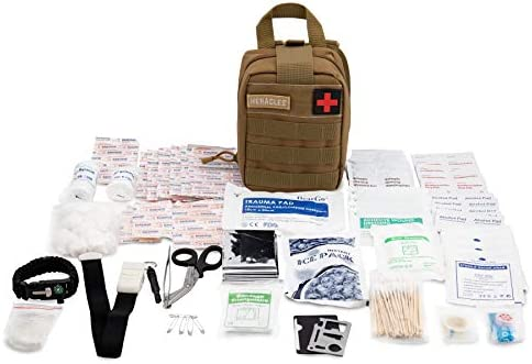 Heracles 228 IN 1 First Aid Kit, IFAK Medical Kit, Trauma Kit, EMT Kit,  Tactical First Aid Kit, Travel First Aid Kit, Tactical Medical Kit, Hiking